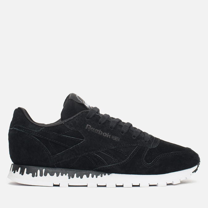 Женские кроссовки Reebok x Naked Classic Leather Drip Black/White