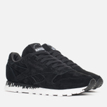 Женские кроссовки Reebok x Naked Classic Leather Drip Black/White фото- 1