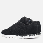 Женские кроссовки Reebok x Naked Classic Leather Drip Black/White фото- 2