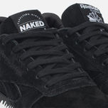 Женские кроссовки Reebok x Naked Classic Leather Drip Black/White фото- 5