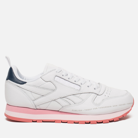 Женские кроссовки Reebok x Publish Classic Leather White/Steel/Porcelian