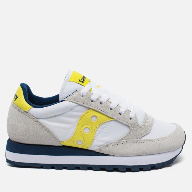 Saucony Jazz Original Women's Sneakers White/Yellow