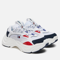 Женские кроссовки Tommy Jeans Fashion Chunky Runner Red/White/Blue