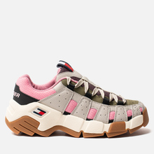 Женские кроссовки Tommy Jeans Heritage Chunky Trainers Pumice Stone/Sea Pink/Martini Olive фото- 3