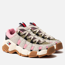 Женские кроссовки Tommy Jeans Heritage Chunky Trainers Pumice Stone/Sea Pink/Martini Olive фото- 0