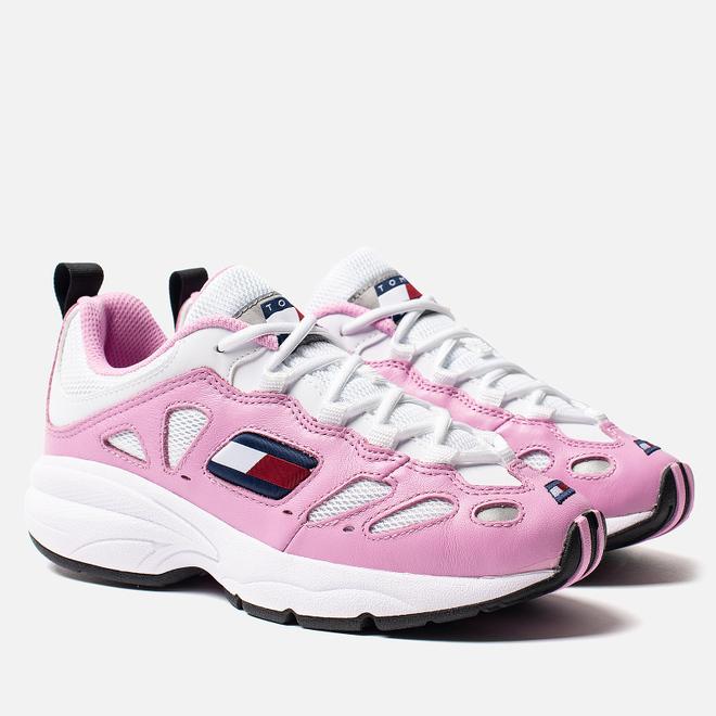 Женские кроссовки Tommy Jeans Retro Trainers Pink Mist/White