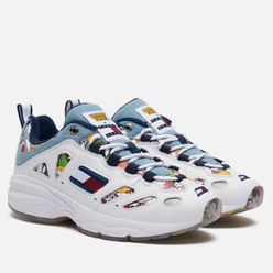 Женские кроссовки Tommy Jeans x Looney Tunes Lace-Up Trainers All Over Print