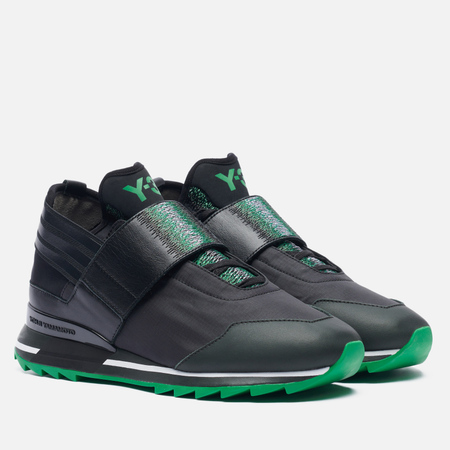 Женские кроссовки Y-3 Atira Dark Black Olive/Core Back/Green