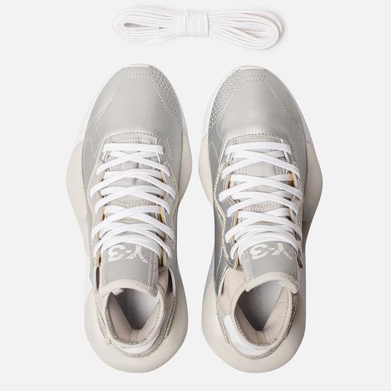 Женские кроссовки Y-3 Kaiwa Silver Metallic/White/Silver Metallic