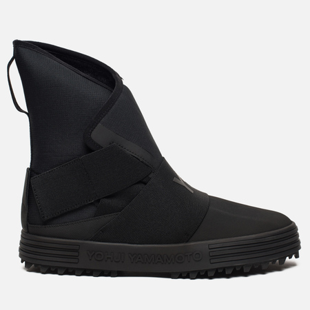 Женские кроссовки Y-3 New Snow Foxing Strap Core Black/White/Core Black