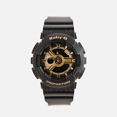 Женские наручные часы CASIO Baby-G BA-110-1A Black/Gold
