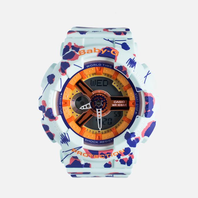 Женские наручные часы Casio Baby-G BA-110FL-3A Flower Leopard Sky