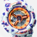Женские наручные часы Casio Baby-G BA-110FL-3A Flower Leopard Sky фото- 2