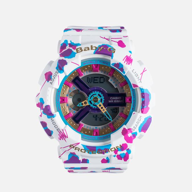 Женские наручные часы CASIO Baby-G BA-110FL-7A Flower Leopard White