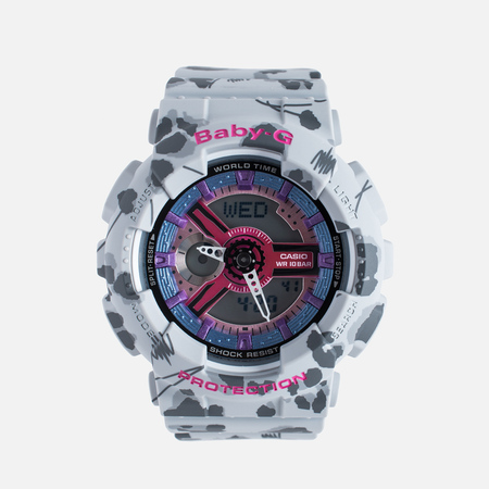 Casio Baby-G BA-110FL-8A Flower Women's Watch Leopard Grey