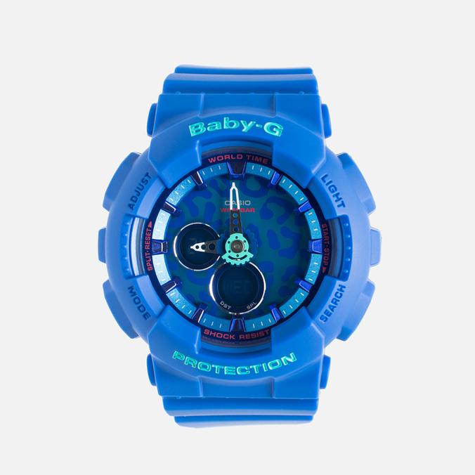 Женские наручные часы CASIO Baby-G BA-120LP-2A Leopard Pattern Blue