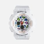 Женские наручные часы Casio Baby-G BA-120LP-7A1 Leopard Pattern White фото- 0