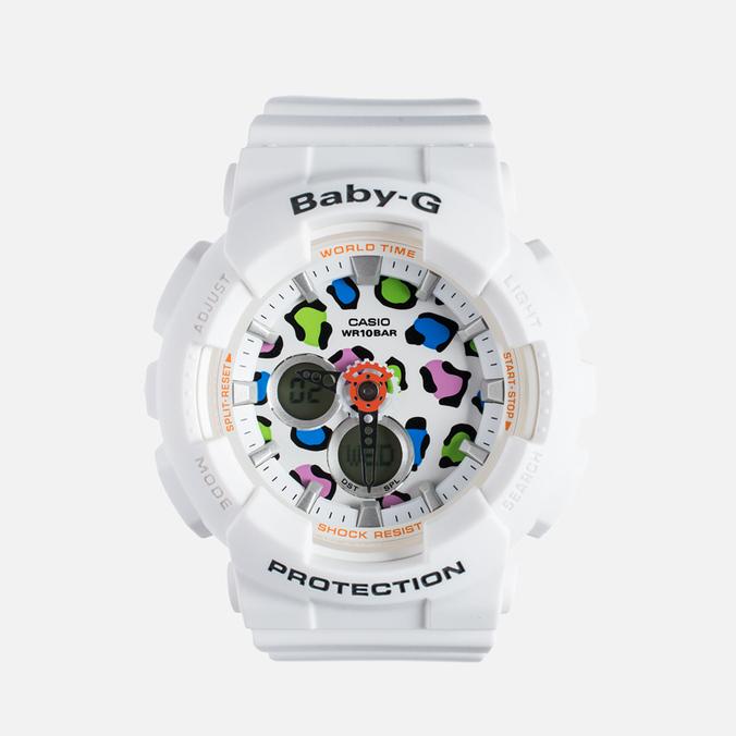 Женские наручные часы Casio Baby-G BA-120LP-7A1 Leopard Pattern White