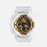 Женские наручные часы Casio Baby-G BA-120LP-7A2 Leopard Pattern White/Gold фото- 0