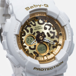 Женские наручные часы Casio Baby-G BA-120LP-7A2 Leopard Pattern White/Gold фото- 2