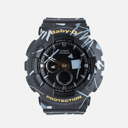 Женские наручные часы CASIO Baby-G BA-120SC-1A Graffiti Pattern Black