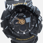 Женские наручные часы CASIO Baby-G BA-120SC-1A Graffiti Pattern Black фото- 2