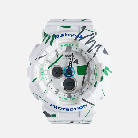 Женские наручные часы Casio Baby-G BA-120SC-7A Graffiti Pattern White