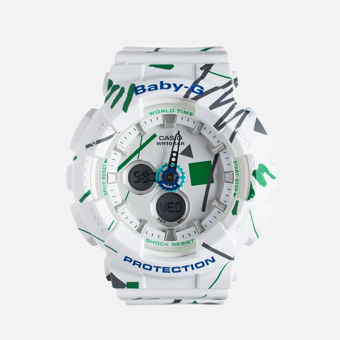 Женские наручные часы Casio Baby-G BA-120SC-7A Graffiti Pattern White