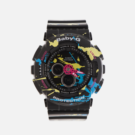 Женские наручные часы CASIO Baby-G BA-120SPL-1A Splatter Pattern Street Art Pack Black