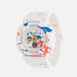 Женские наручные часы CASIO Baby-G BA-120SPL-7A Splatter Pattern Street Art Pack White фото- 1