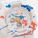 Женские наручные часы CASIO Baby-G BA-120SPL-7A Splatter Pattern Street Art Pack White фото- 2