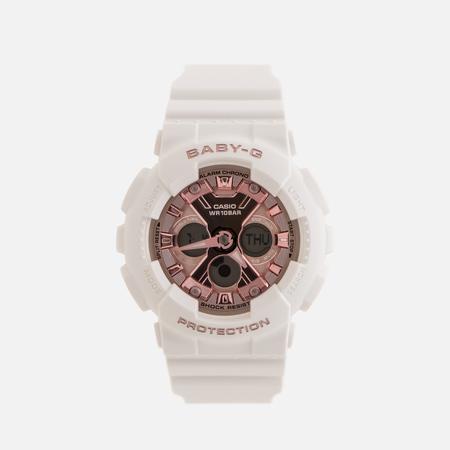 Женские наручные часы CASIO Baby-G BA-130-7A1ER White/Rose Gold