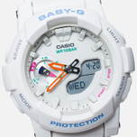 Женские наручные часы Casio Baby-G BGA-185-7A White фото- 2