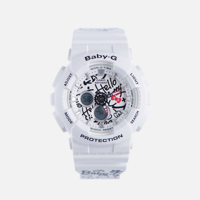 Женские наручные часы CASIO Baby-G x Hello Kitty BA-120KT-7A White