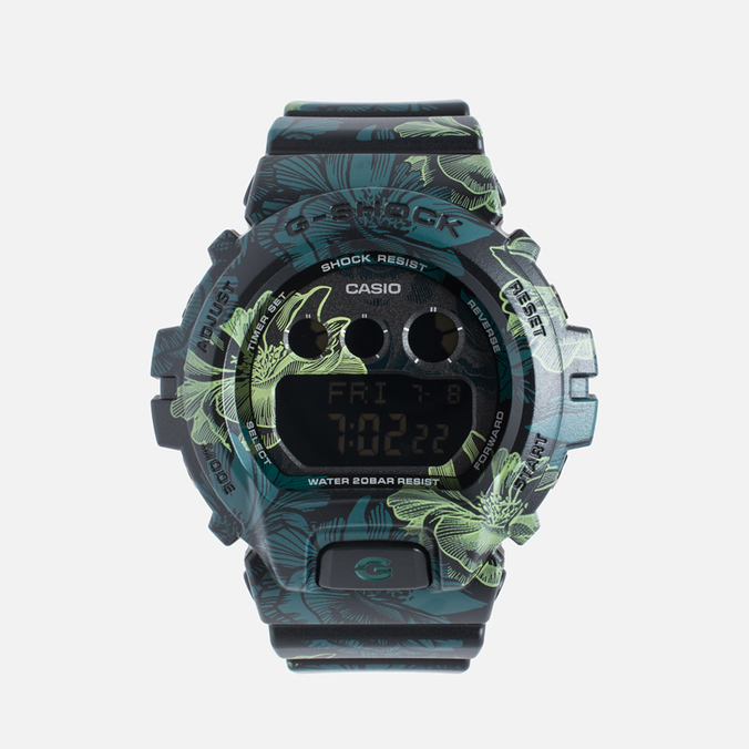 Женские наручные часы CASIO G-SHOCK GMD-S6900F-1E Floral Pattern Green