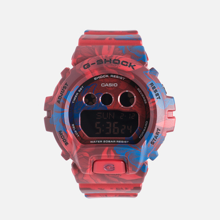 Женские наручные часы Casio G-SHOCK GMD-S6900F-4E Floral Pattern Red
