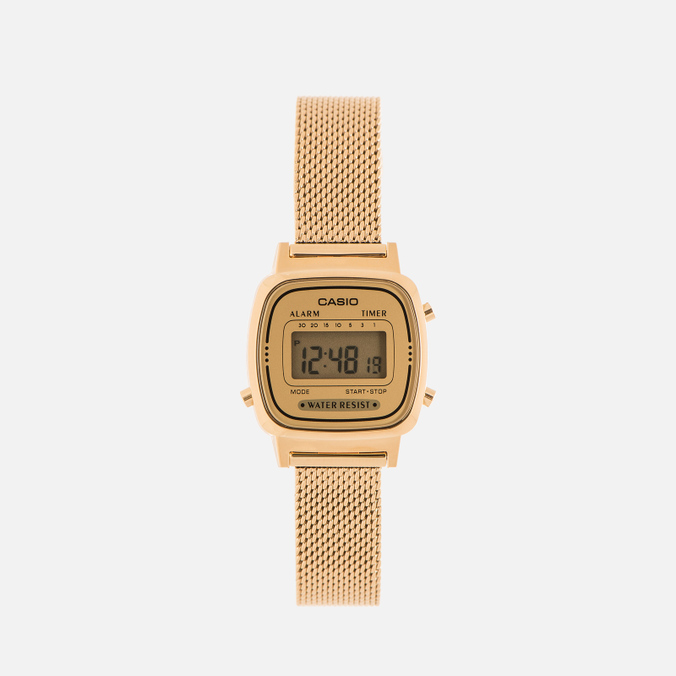Женские наручные часы CASIO LA670WEMY-9E Gold/Yellow