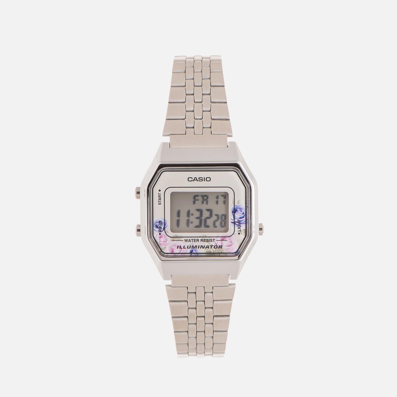 Женские наручные часы CASIO LA680WEA-4C Silver/Multicolor