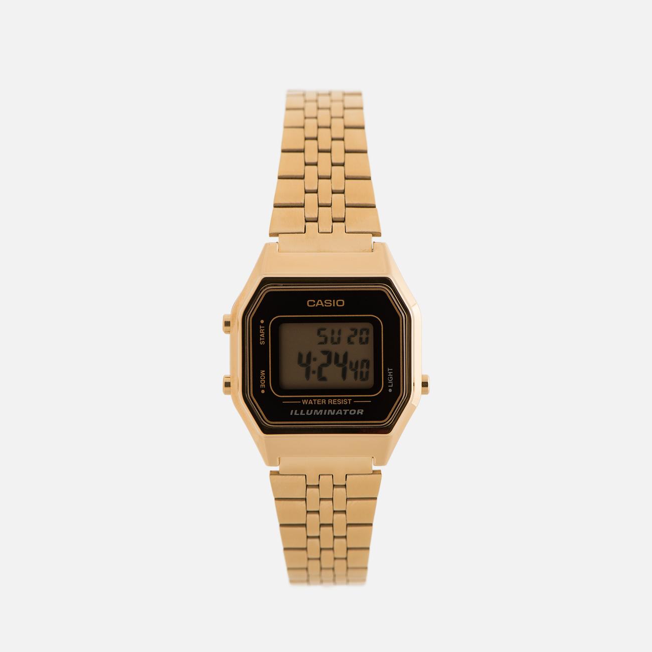 Женские наручные часы CASIO LA680WEGA-1E Gold/Black