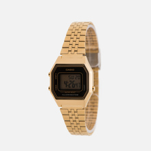 Женские наручные часы CASIO LA680WEGA-1E Gold/Black фото- 1