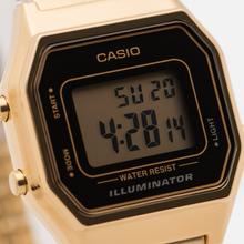Женские наручные часы CASIO LA680WEGA-1E Gold/Black фото- 2
