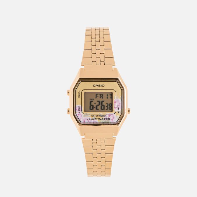 Женские наручные часы CASIO LA680WEGA-4C Gold/Multicolor