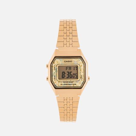 Женские наручные часы CASIO LA680WEGA-9C Gold/Multicolor