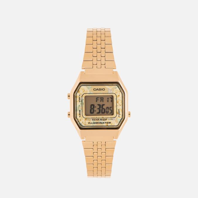 54c93227 Женские наручные часы CASIO LA680WEGA-9C Gold/Multicolor LA680WEGA-9C