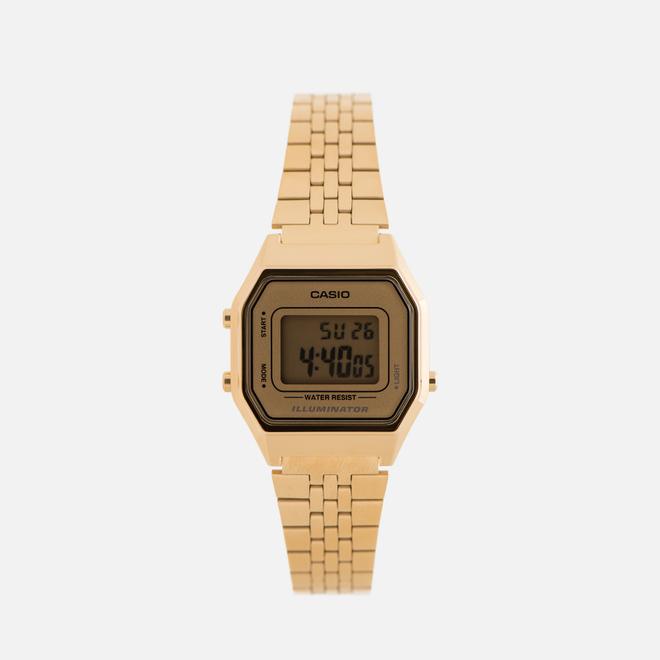 Женские наручные часы CASIO LA680WEGA-9E Gold/Gold