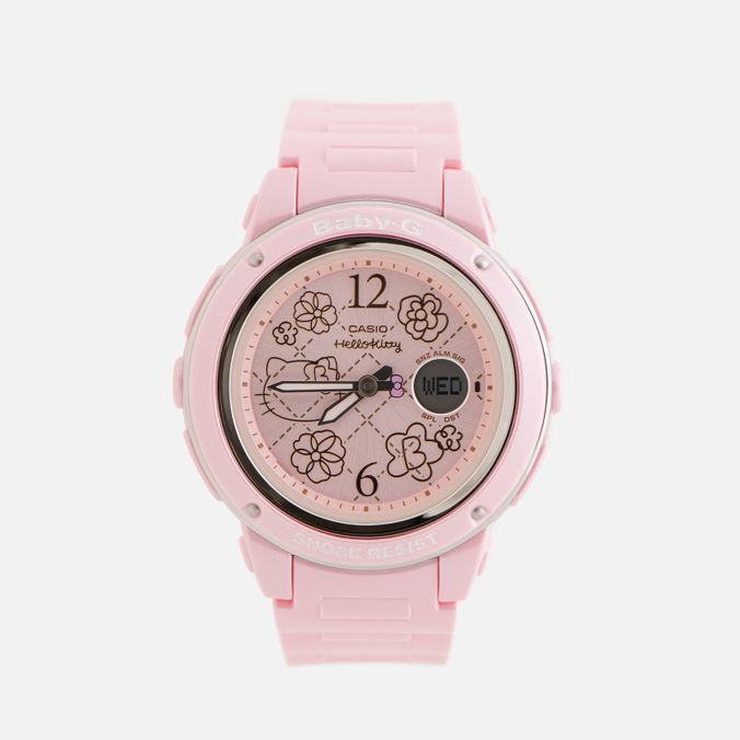 Женские наручные часы CASIO x Hello Kitty Baby-G BGA-150KT-4BER Pink
