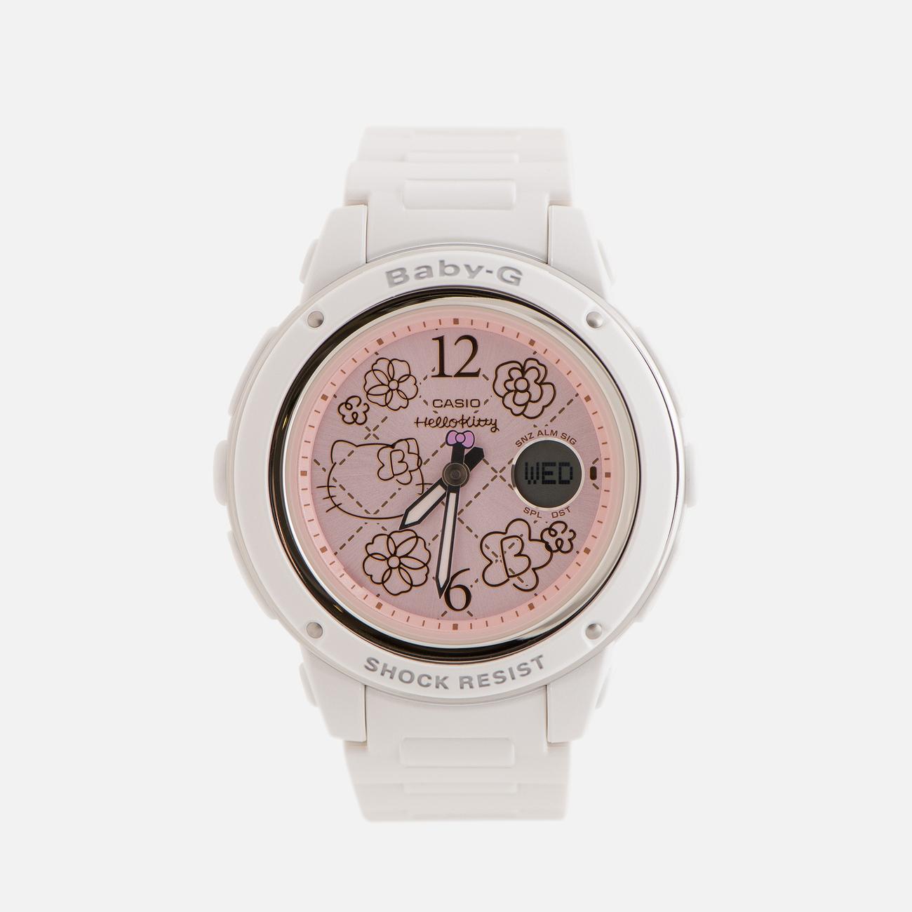 Женские наручные часы CASIO x Hello Kitty Baby-G BGA-150KT-7BER White