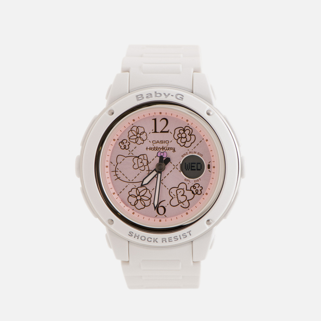 Женские наручные часы CASIO x Hello Kitty Baby-G BGA-150KT-7BER White