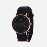 Женские наручные часы Daniel Wellington Classic Black Cornwall Rose Gold фото- 1