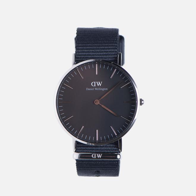 Женские наручные часы Daniel Wellington Classic Black Cornwall Silver